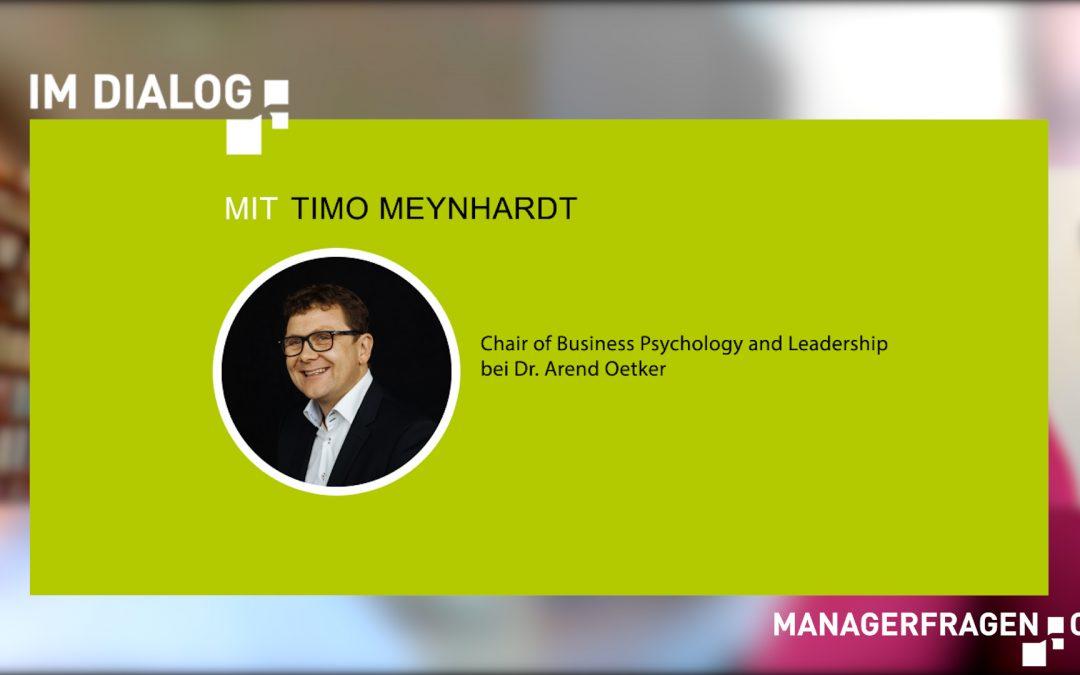 """Video Interview: """"Im Dialog …"""" mit Prof. Dr. Timo Meynhardt"""